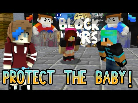 MINECRAFT BLOCK WARS   BABY TACO   CHAD, DOLLASTIC and AUDREY