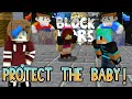 MINECRAFT BLOCK WARS | BABY TACO | CHAD, DOLLASTIC and AUDREY