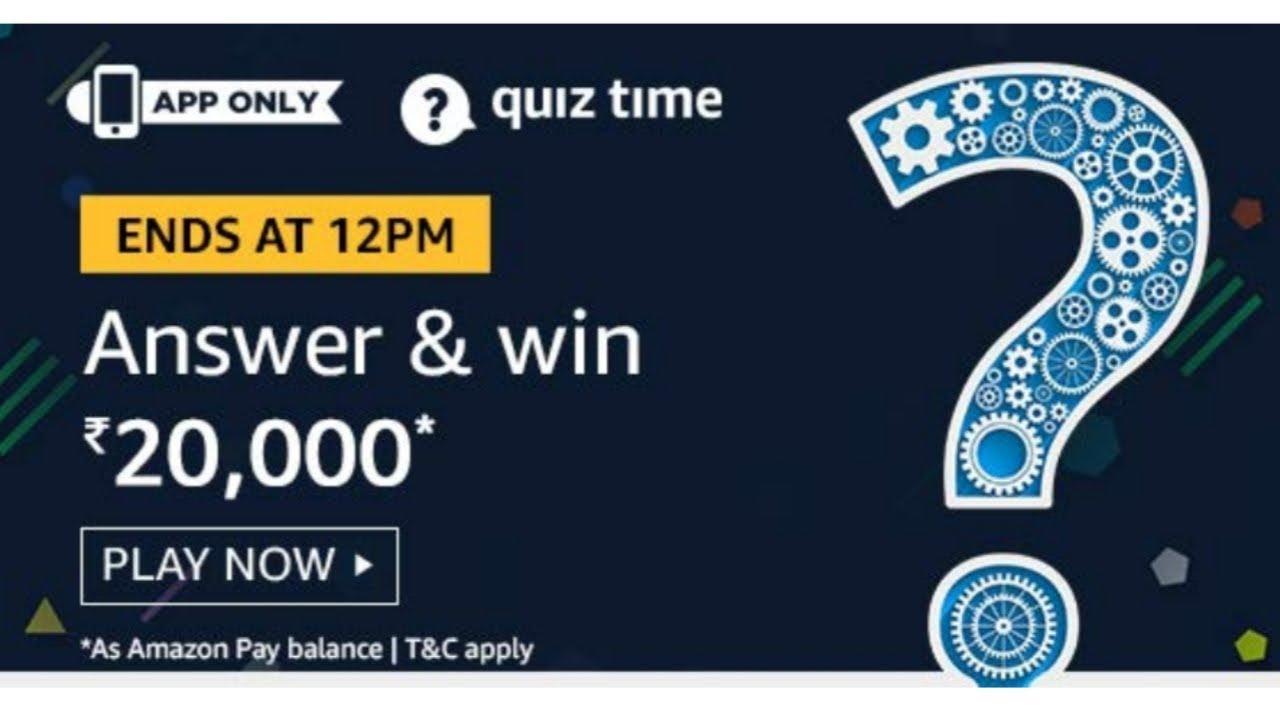 Amazon today quiz answers l Win a RS 20000* l 8-August-19 l SriRam in  Telugu l