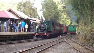 West Coast Wilderness Railway, Tasmania. Rack and Gorges from Queenstown to Strahan