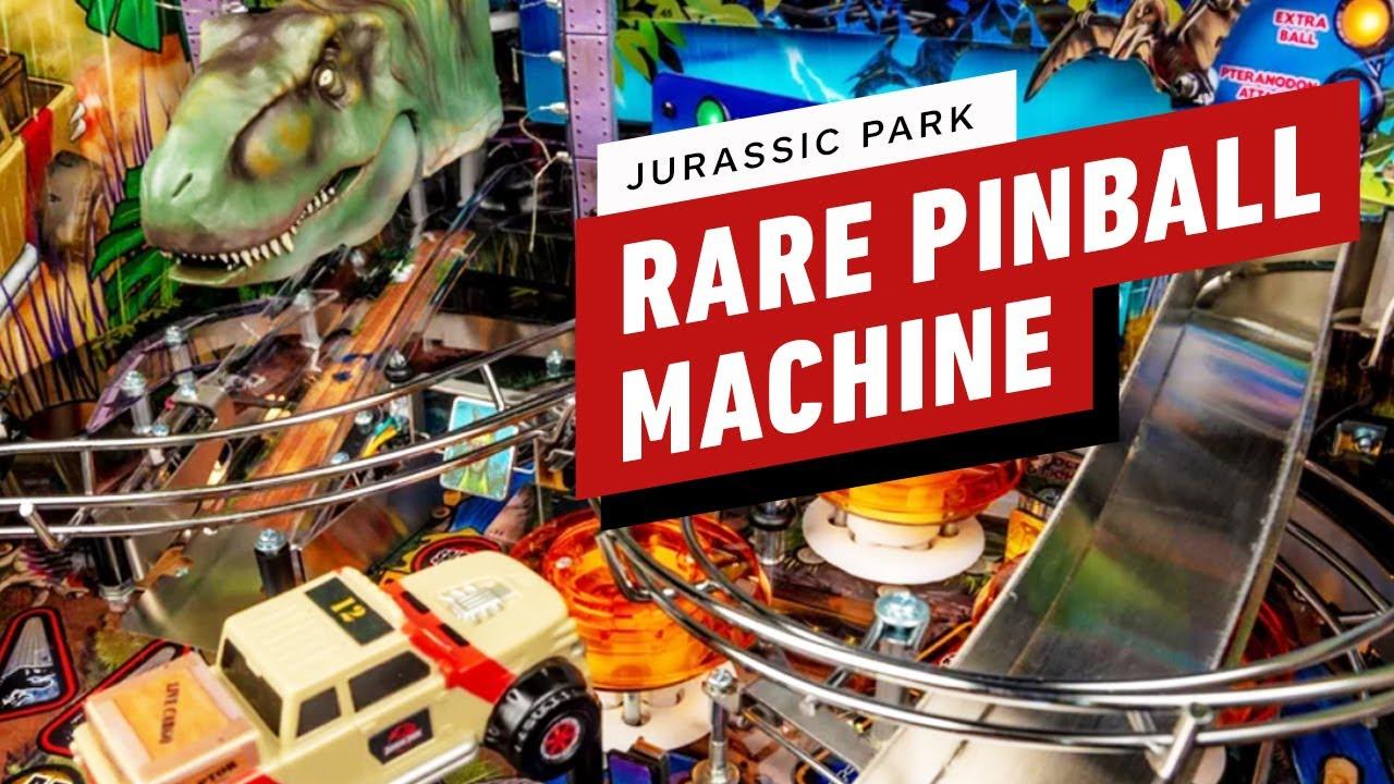 Probablemente no verás esta rara máquina de pinball de Jurassic Park en una sala de juegos + vídeo