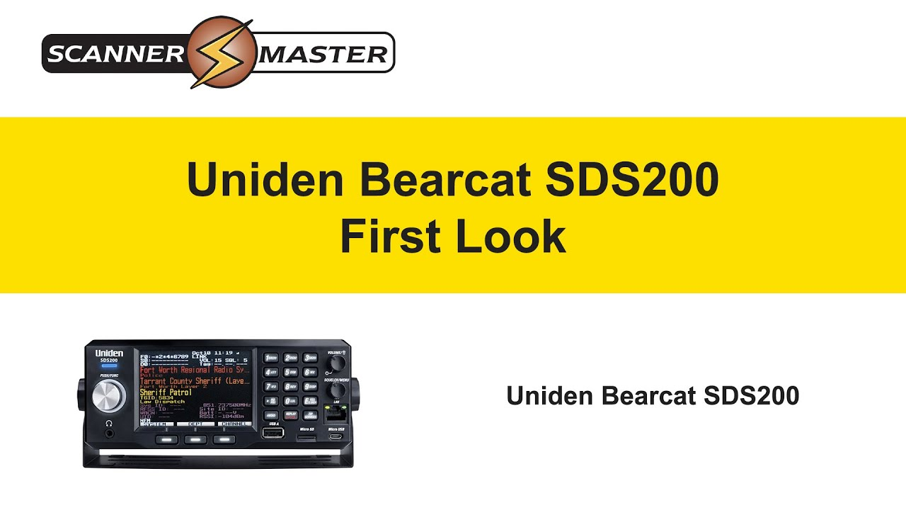 Uniden Bearcat SDS200 First look