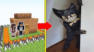 BENDY Tấn Công Nhà Được Bảo Vệ Bởi bqThanh và Ốc Trong Minecraft