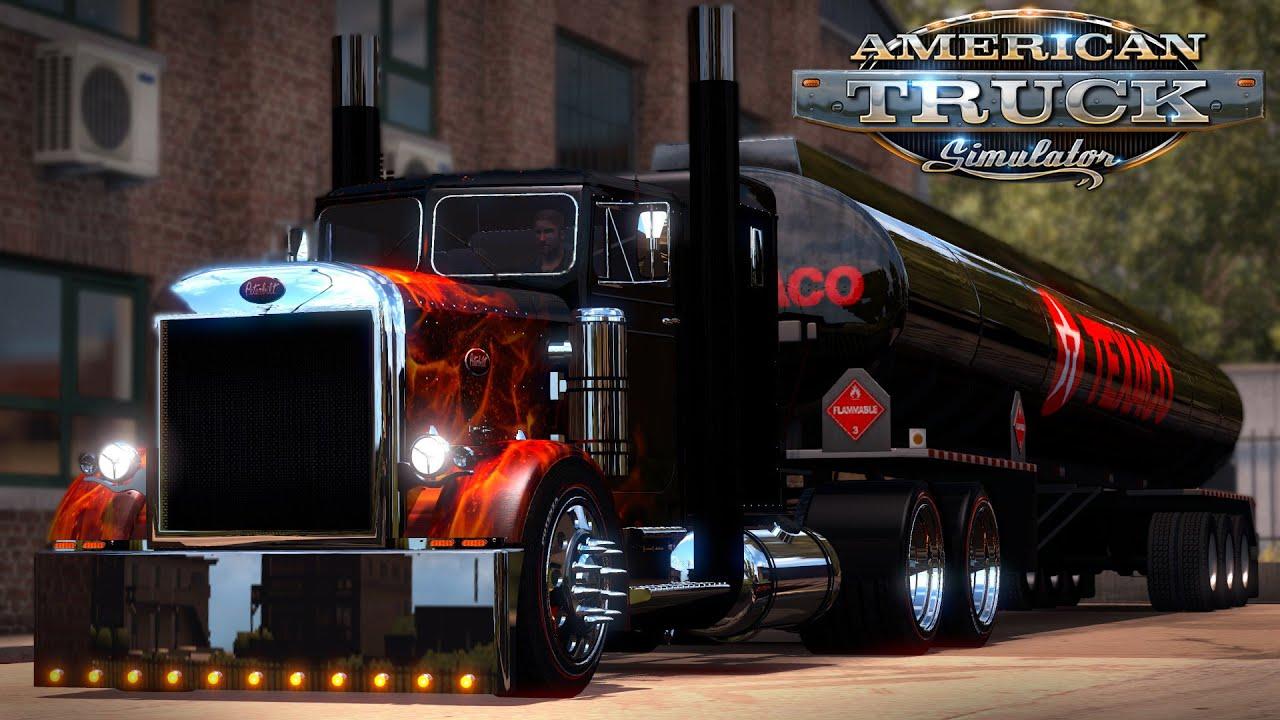 american truck simulator beautiful real flames 351 and