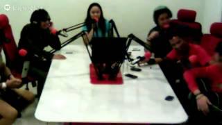 Kunjungan Radja di Studio Evella 96,7 FM Palangka raya
