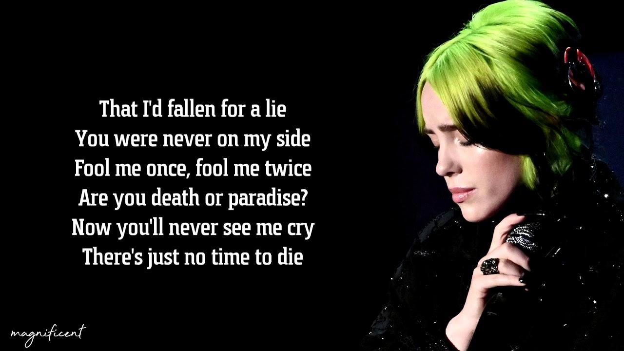 Billie Eilish No Time To Die Lyrics Youtube