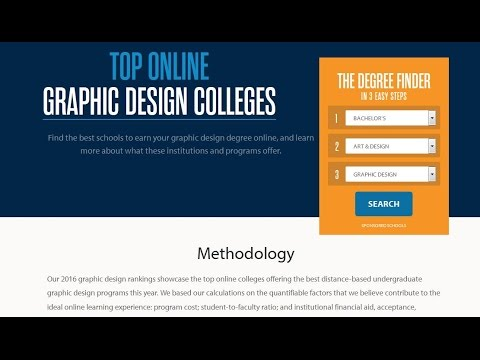 Graphic Design Online Degree Course Top Ten List