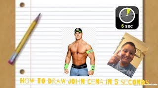 How to draw john cena in 5 seconds