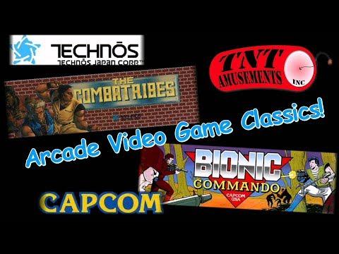 #1368 Technos COMBATRIBES & Capcom BIONIC COMMANDO Arcade Video Games TNT Amusements