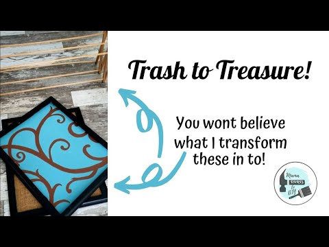 Upcycled Picture Frames | Craft Room Organization On A Budget | Trash To Treasure
