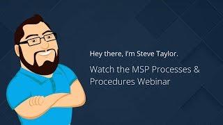 MSP Processes and Procedures
