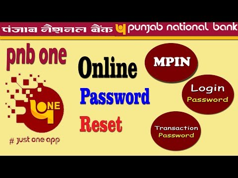 Repeat How to Set Login and Transaction Password of Pnb One