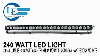 240 watt led light 20 640 lumens 9 48 volts dc trunnion mount flood beam anti shock mounts