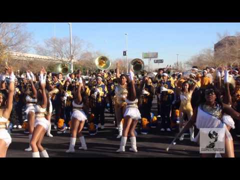 Booker T. Washington vs North Forest at Houston MLK Parade 2015