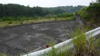 2010年7月31日、13:21:12右岸から逆川防災ダム洪水吐