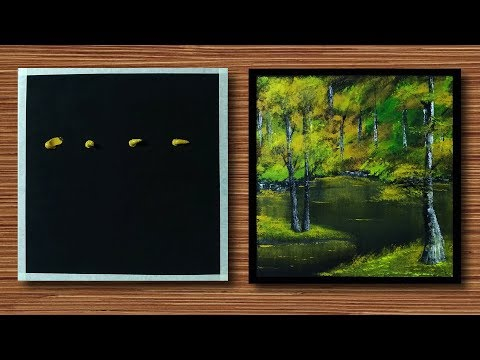 Acrylic painting Demo – Green Forest – Relaxing Art