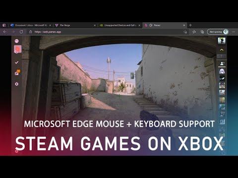 PC games on Xbox with Edge mouse + keyboard support