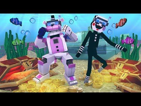Funtime Freddy's Underwater Treasure Hunt!- Minecraft FNAF Roleplay