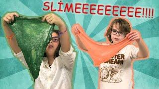 Slime Challenge - Part 2 - Zeynep ve Ata Berk Slime için Yarışıyor!