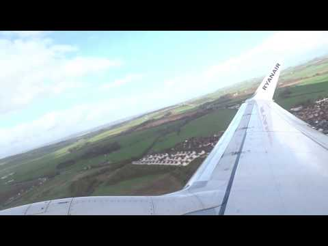 Ryanair 737-800 Glorious Takeoff from Glasgow Prestwick!