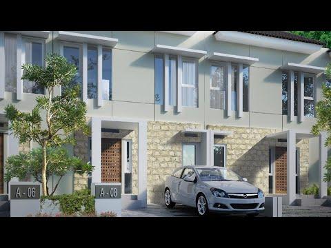 desain rumah 2 lantai lebar 6x12 3 kamar (part1) - youtube