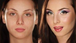 Вечерний яркий макияж. (Урок №18)