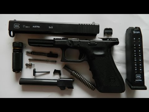 Glock 17 gen4 Review- Detailed Disassembly & Reassembly, Function Check, Cleaning & Lubrication
