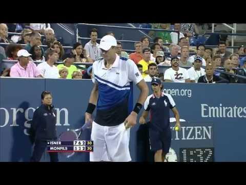 Isner Monfils US Open 2013 R2