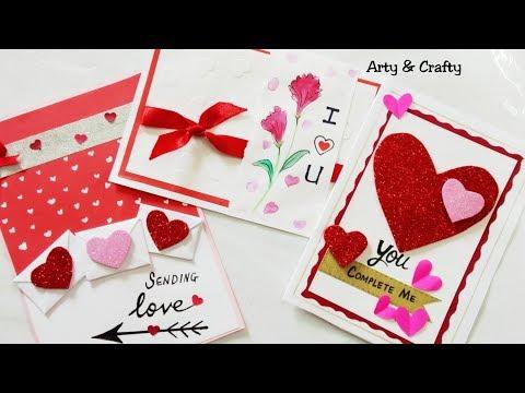 DIY 3 Valentine Card /Easy Valentine Card Ideas / DIY Handmade Valentine Gift Idea by Arty & Crafty