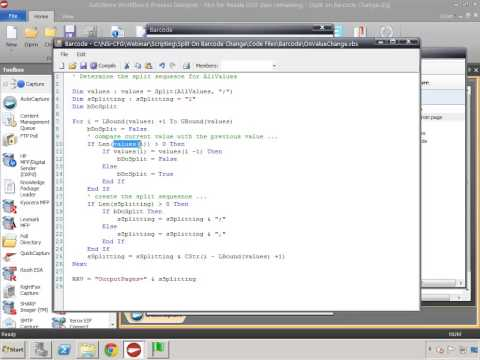 Split on Barcode Change - Barcode Scripting