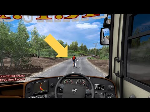 KISS OF DEATH Bus Driver Presense Of Mind Saves The Life Of Idiot Motorist | ETS2 Bus Driving