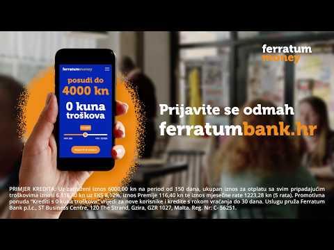 Ferratumbank - Tko želi besplatni kredit s 0 kuna troškova?