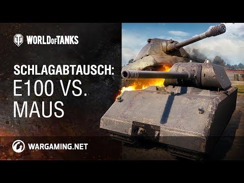 Schlagabtausch: E100 vs. Maus [World of Tanks Deutsch] thumbnail