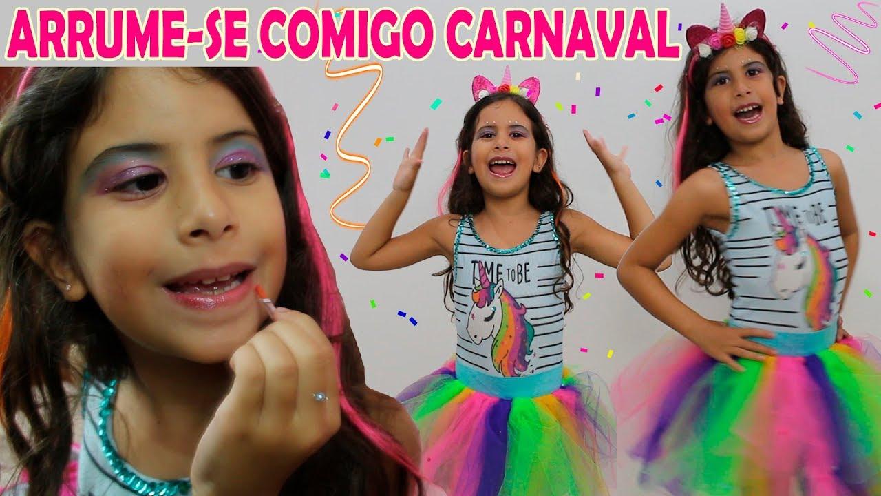 Arrume Se Comigo Pro Carnaval E Faca Sua Fantasia De Unicornio Youtube