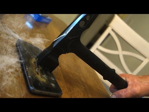 Angry Grandpa Destroys Samsung Galaxy S7 Edge!!