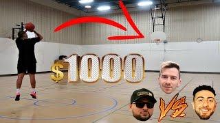$1000 HALF COURT CHALLENGE!!!