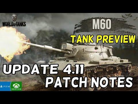 Update 4.11 & M60 Tank Previews || World Of Tanks: Mercenaries