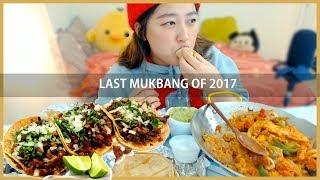 Chicken Fajitas + Shrimp, Fish, Pork Mukbang   KEEMI★