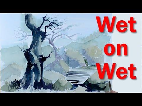 Start Painting: Watercolour Basics PART 3 – Wet on Wet