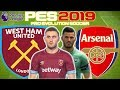 West Ham vs Arsenal Prediction | English Premier League 12th Jan | PES 2019 Gameplay