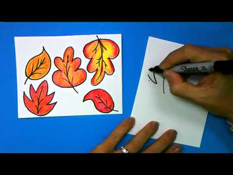 how to draw small leaves