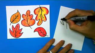 ArtSmart Scarecrow: How to Draw Fall Leaves