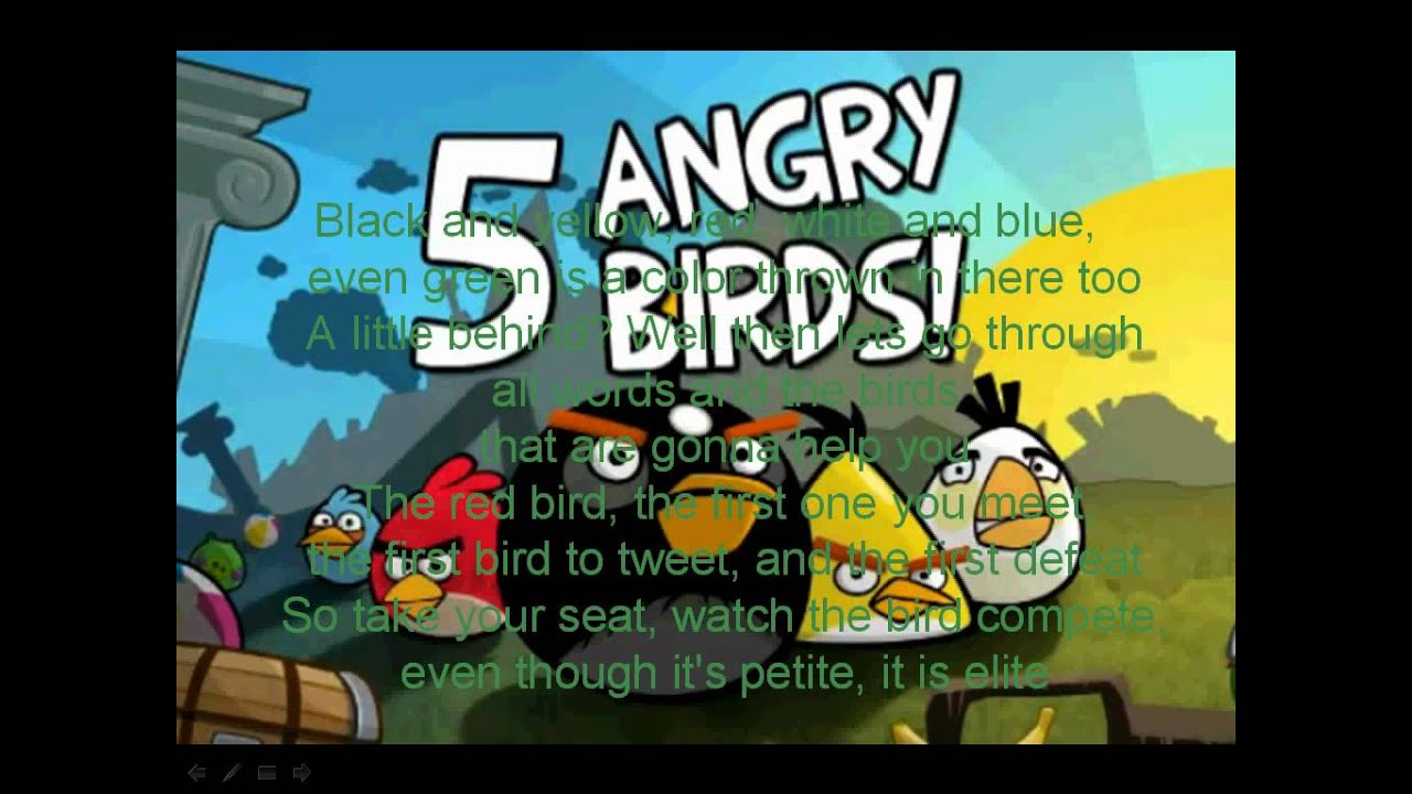 The Angry Birds Rap (With Lyrics) - YouTube