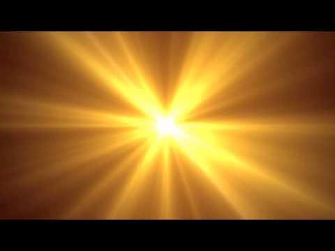 Golden Center Light Rays Motion Background