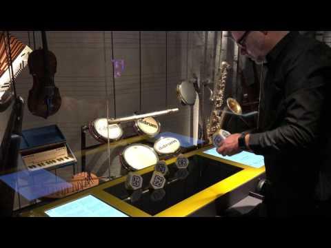 Interactive music installation - Swedish Museum of Performing Arts