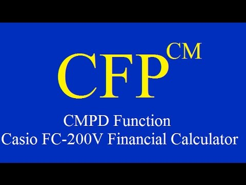Casio fc-200v financial calculator.