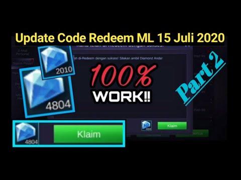 Code Redeem ML Terbaru Oktober 2020 Buruan Cobain 100%work ...