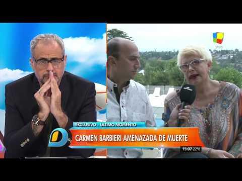 Carmen Barbieri, amenazada de muerte: No les tengo miedo