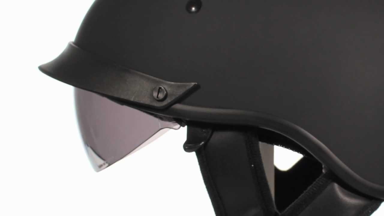 Outlaw T72 Flat Black Dual Visor Dot Half Helmet At Leatherup Com