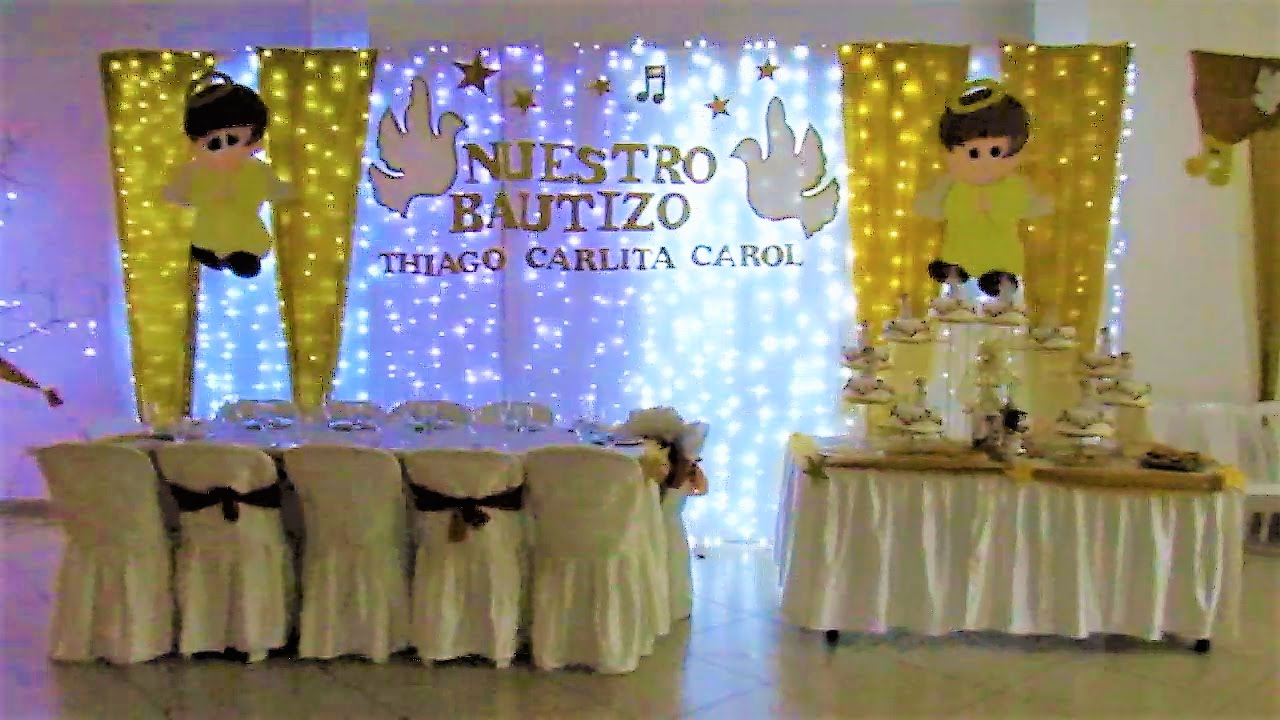 Decoraci n para bautizo youtube for Adornos para pieza de bebe